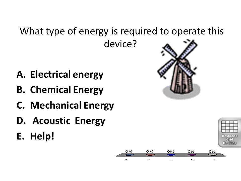 What type of energy is required to operate this device