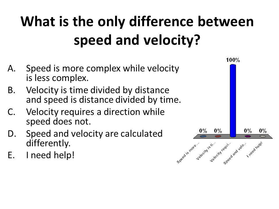 What is the only difference between speed and velocity