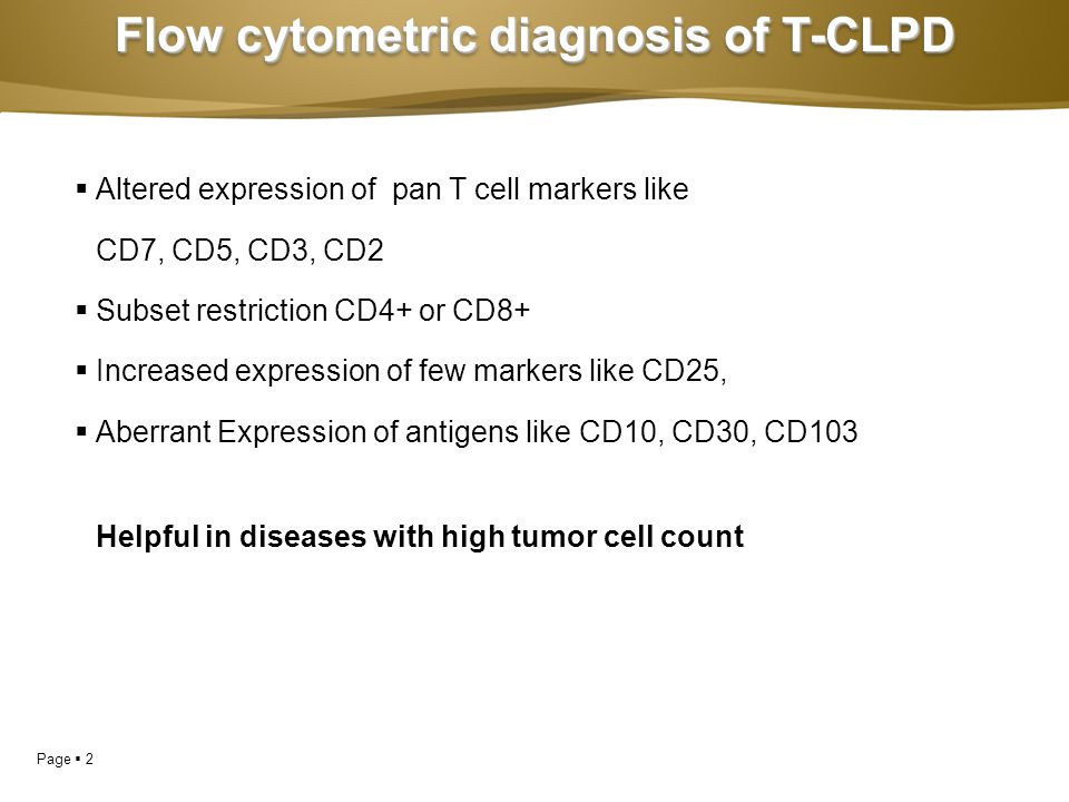 Flow cytometric diagnosis of T-CLPD