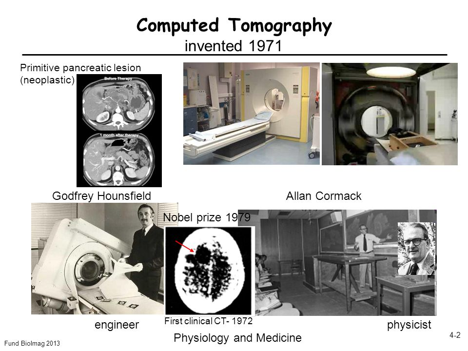 Computed Tomography invented 1971