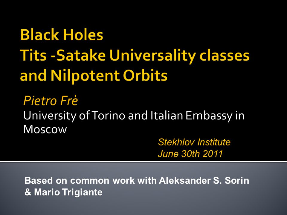 Black Holes Tits -Satake Universality classes and Nilpotent Orbits