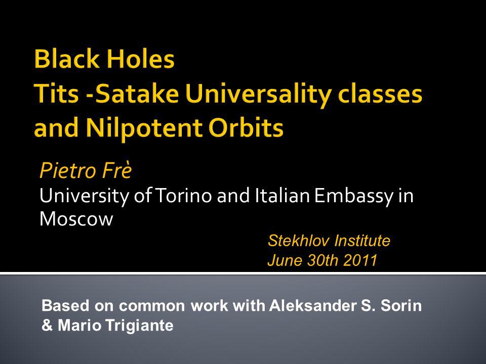Black Holes Tits -Satake Universality classes and Nilpotent Orbits