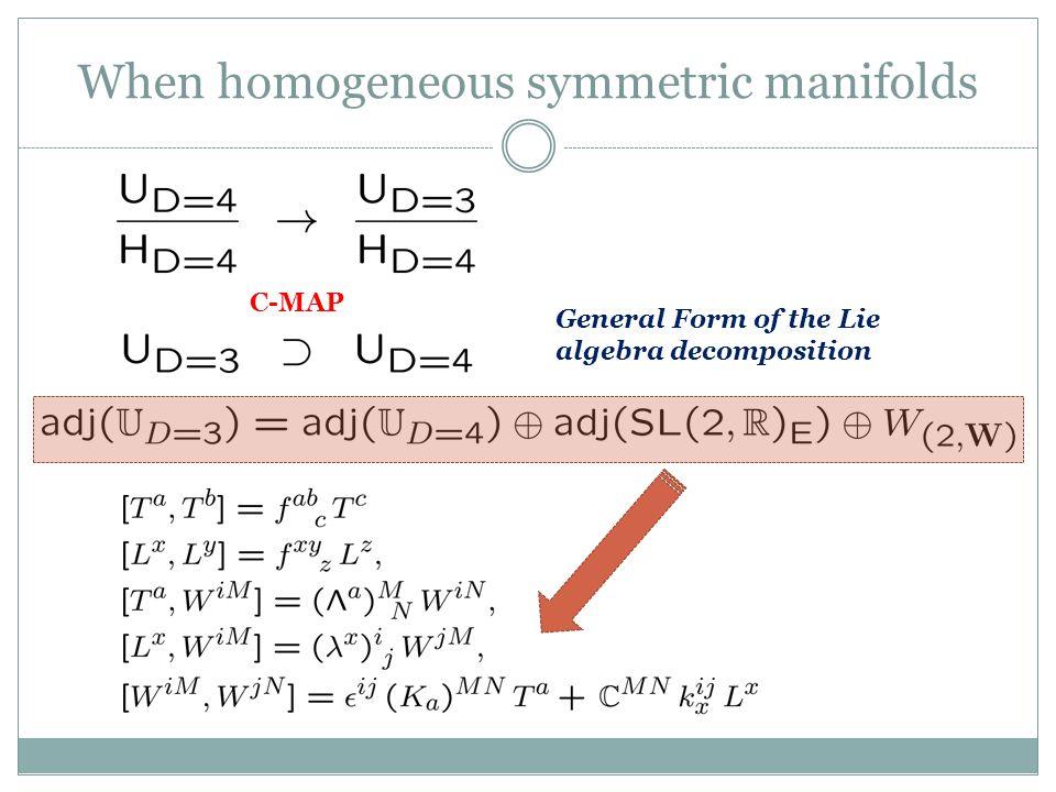 When homogeneous symmetric manifolds