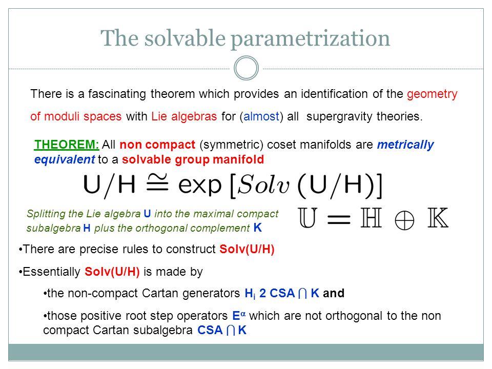 The solvable parametrization