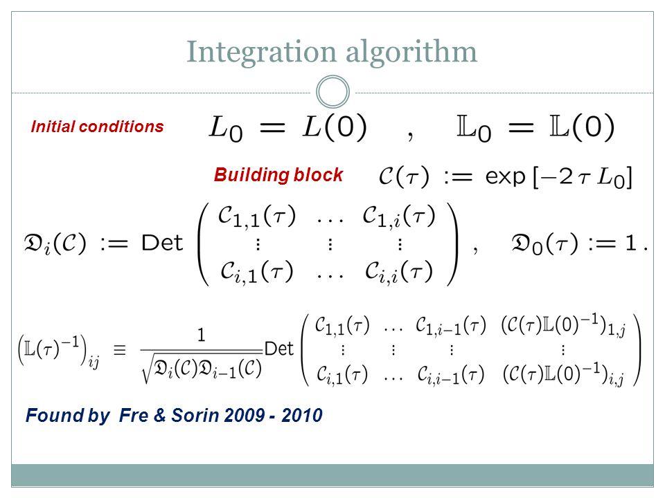 Integration algorithm