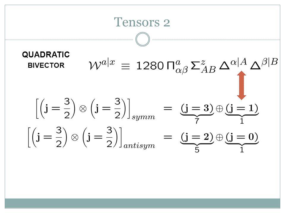 Tensors 2 QUADRATIC BIVECTOR