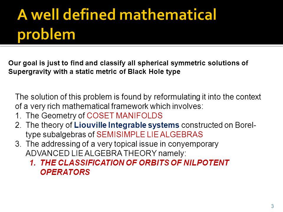 A well defined mathematical problem
