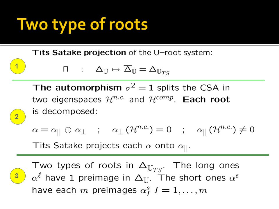 Two type of roots 1 2 3