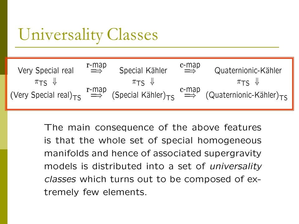 Universality Classes