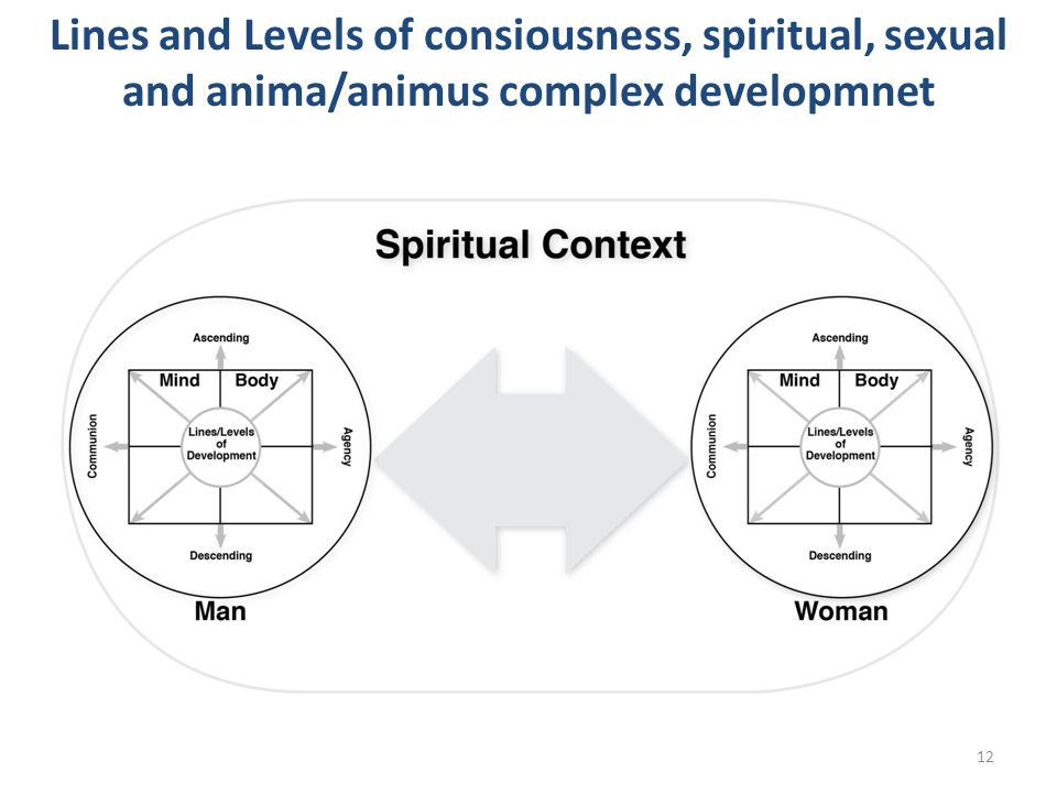 Lines and Levels of consiousness, spiritual, sexual and anima/animus complex developmnet
