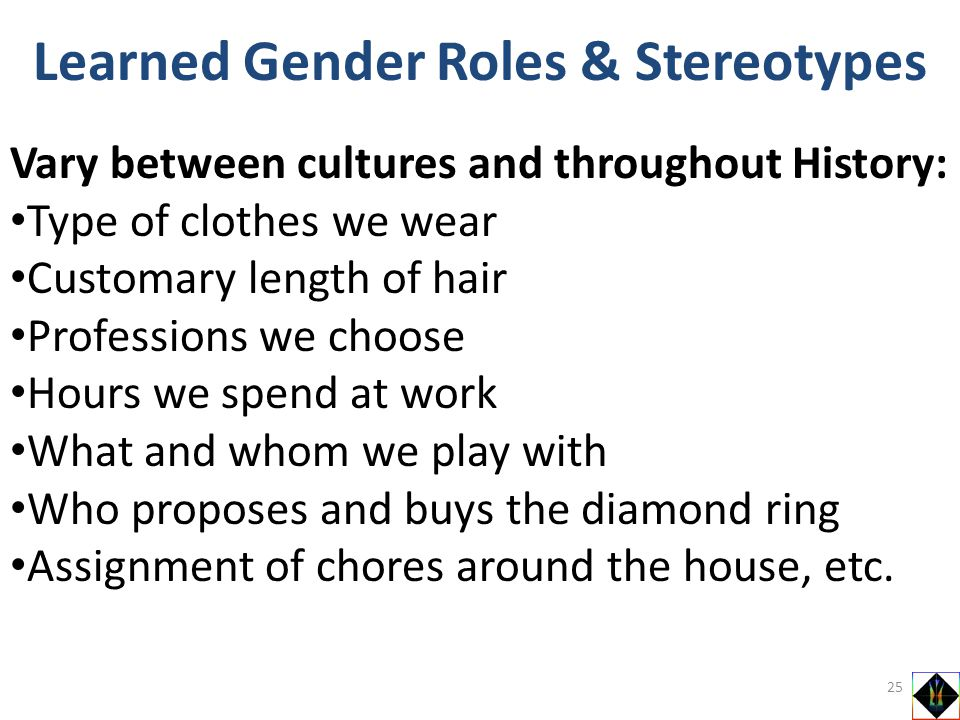 Learned Gender Roles & Stereotypes