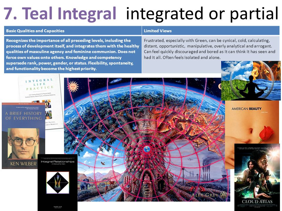 7. Teal Integral integrated or partial