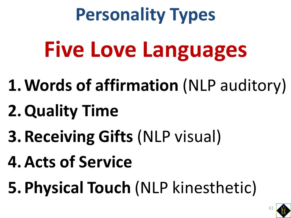 Five Love Languages Personality Types