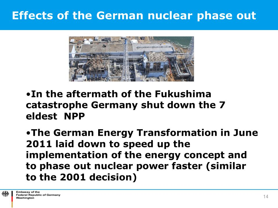Effects of the German nuclear phase out