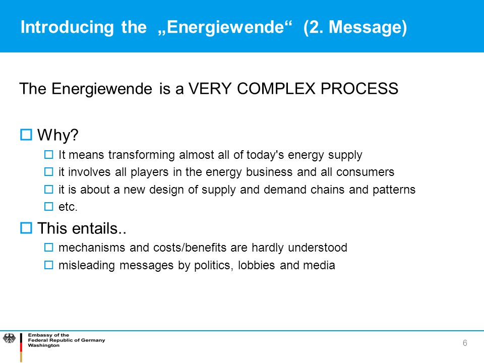 "Introducing the ""Energiewende (2. Message)"