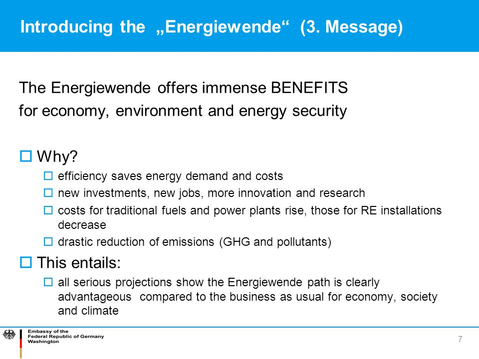 "Introducing the ""Energiewende (3. Message)"