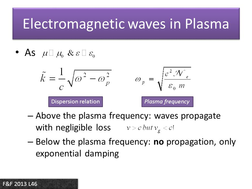Electromagnetic waves in Plasma