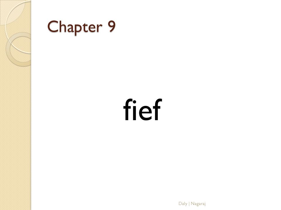 Chapter 9 fief Daly | Nagaraj