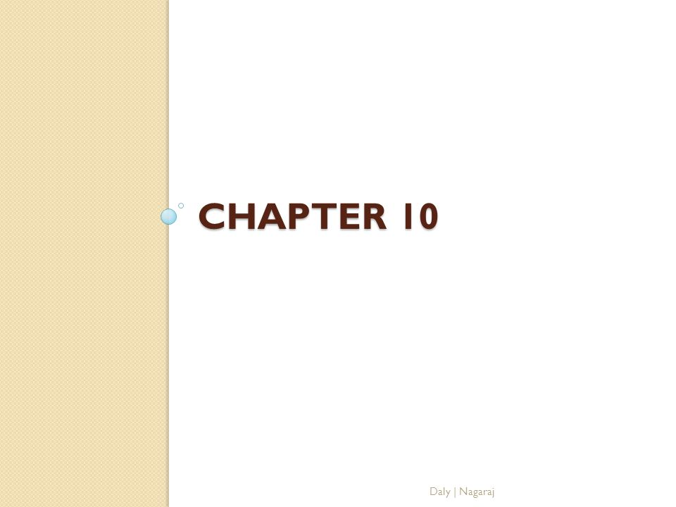 Chapter 10 Daly | Nagaraj