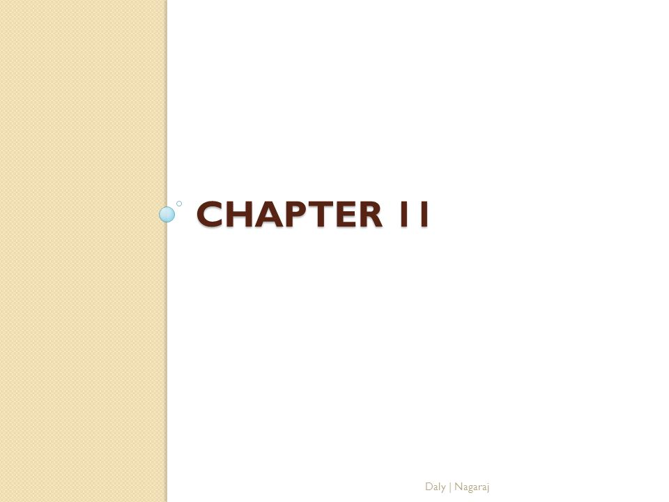 Chapter 11 Daly | Nagaraj