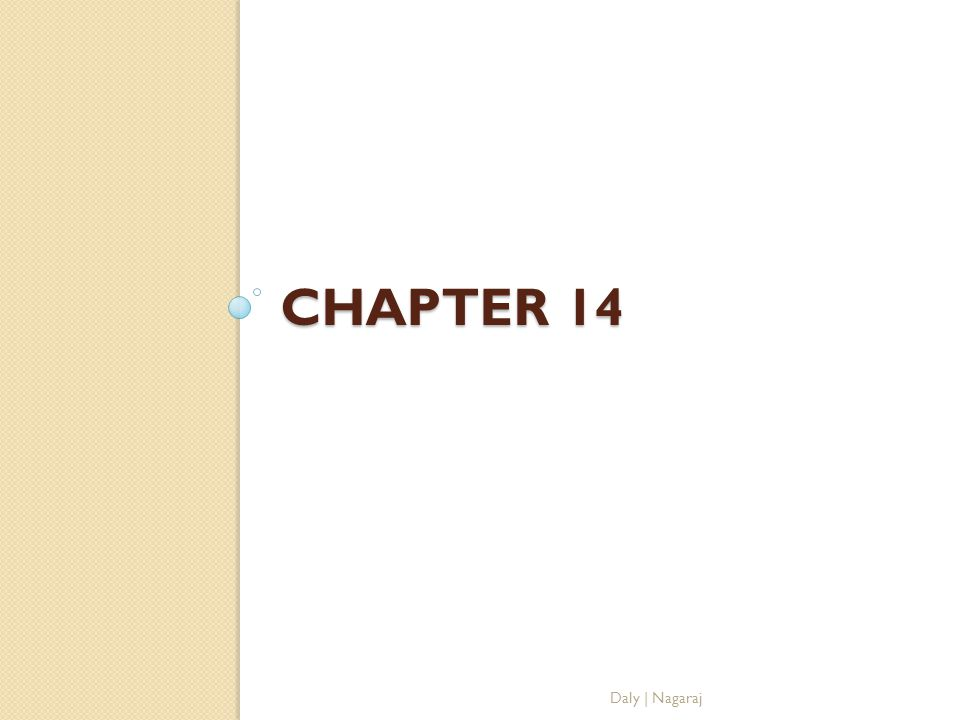 Chapter 14 Daly | Nagaraj