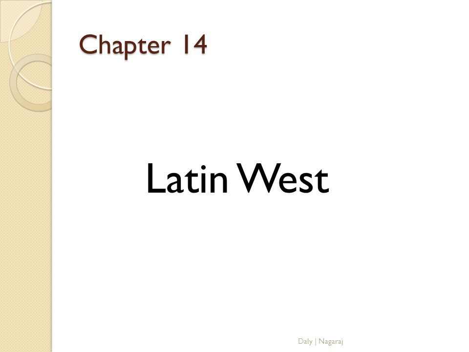 Chapter 14 Latin West Daly | Nagaraj