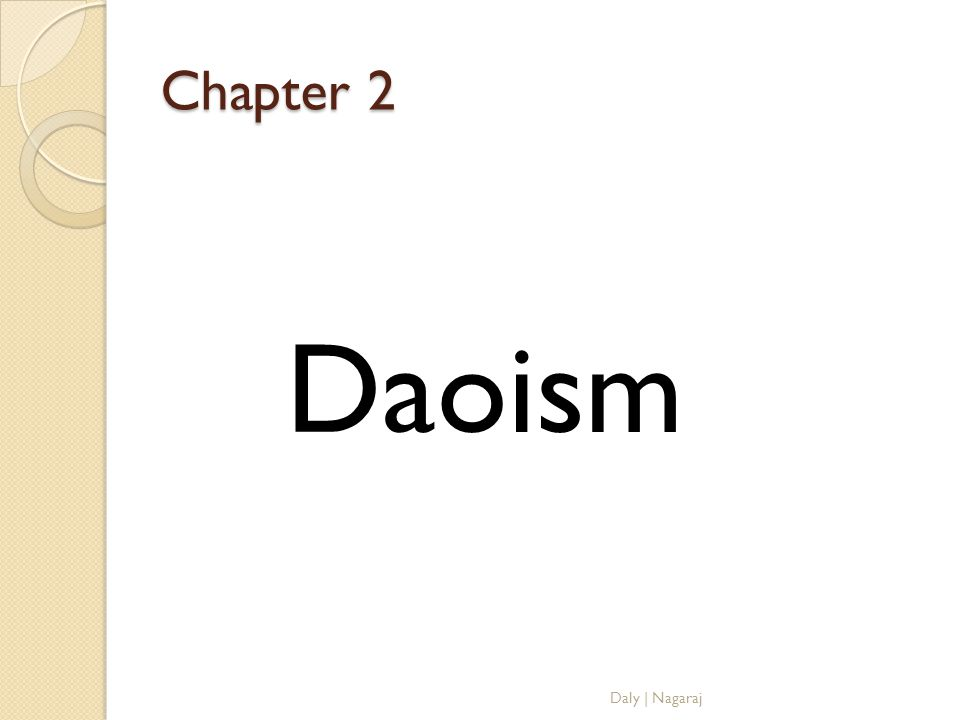 Chapter 2 Daoism Daly | Nagaraj