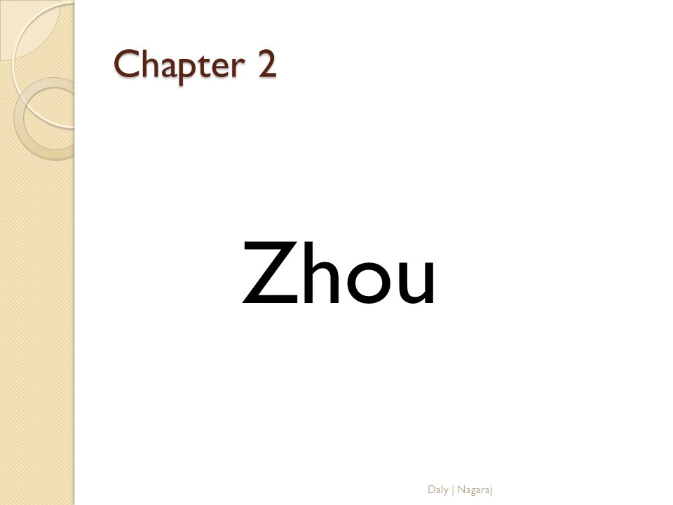 Chapter 2 Zhou Daly | Nagaraj
