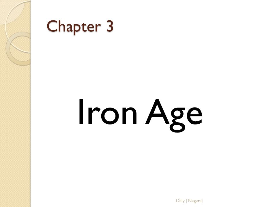 Chapter 3 Iron Age Daly | Nagaraj