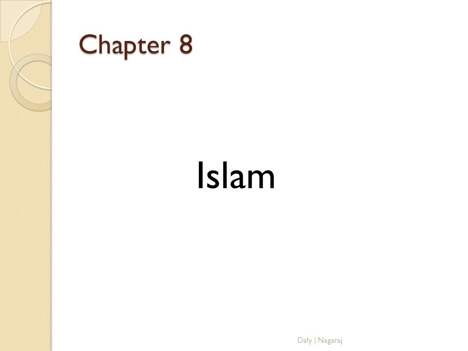 Chapter 8 Islam Daly | Nagaraj