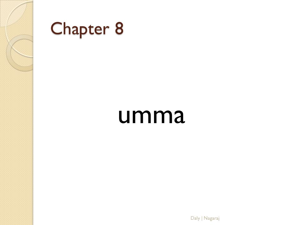 Chapter 8 umma Daly | Nagaraj