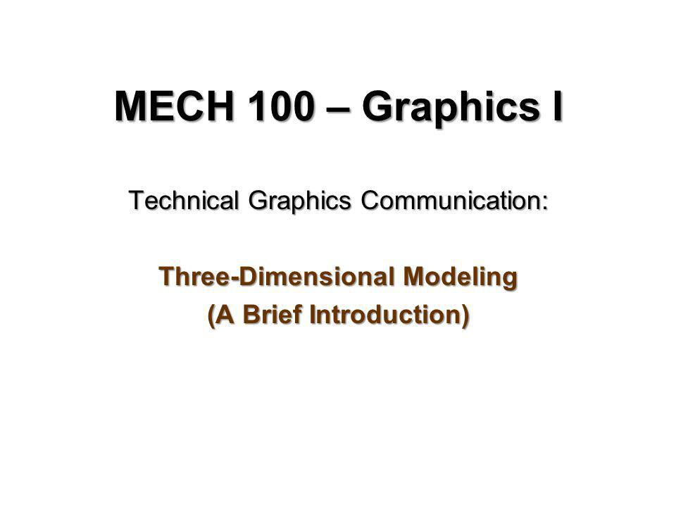 Three-Dimensional Modeling (A Brief Introduction)
