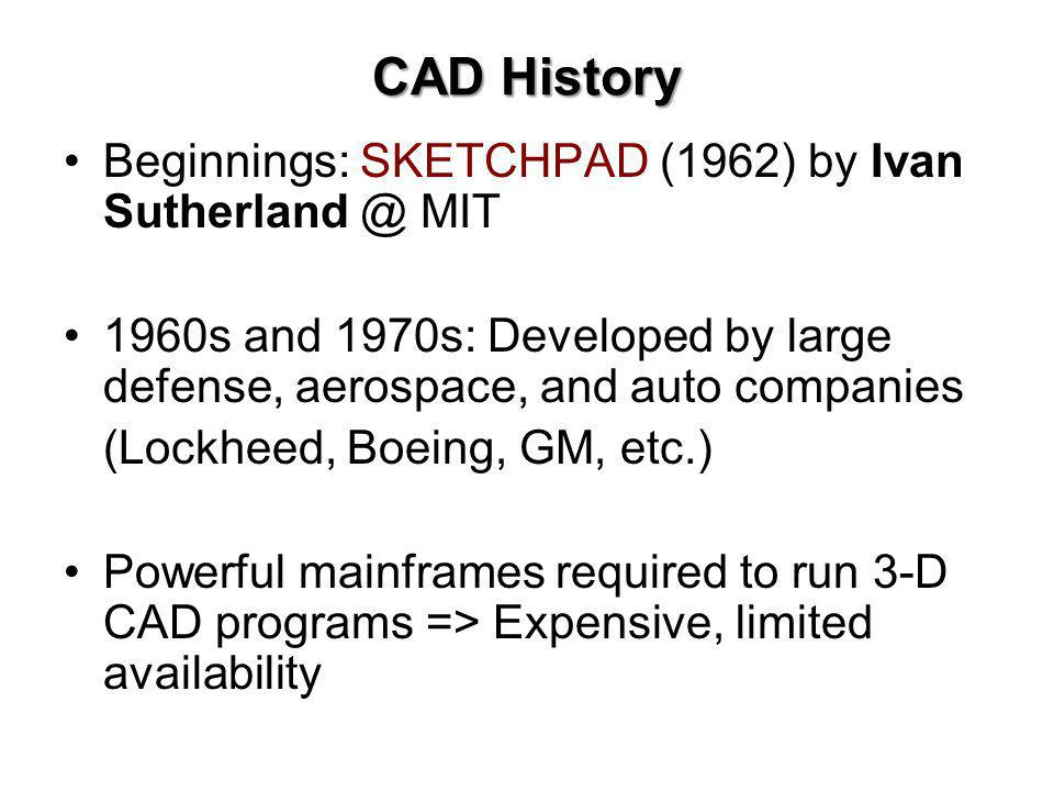 CAD History Beginnings: SKETCHPAD (1962) by Ivan Sutherland @ MIT