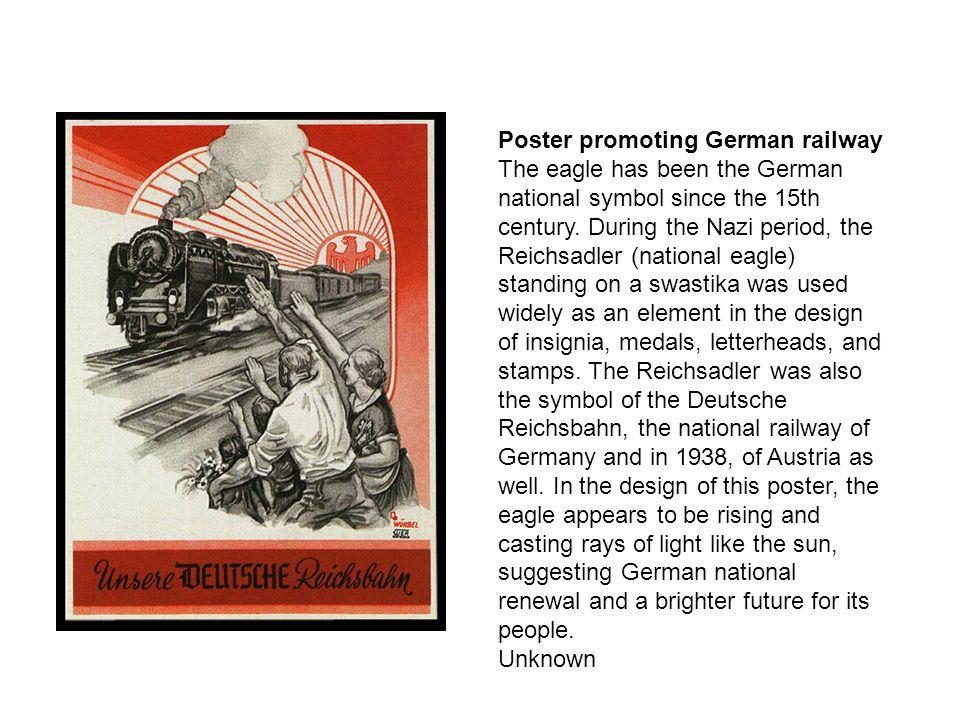 Poster promoting German railway