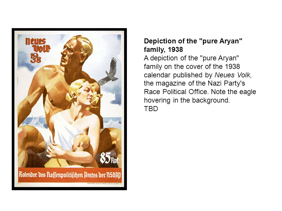 Depiction of the pure Aryan family, 1938