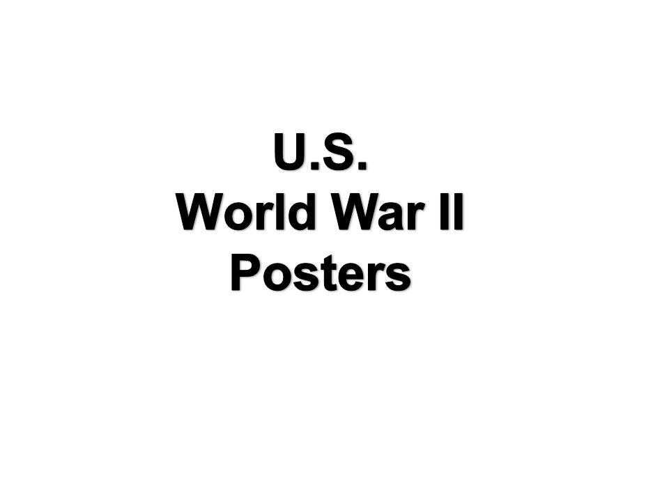 U.S. World War II Posters