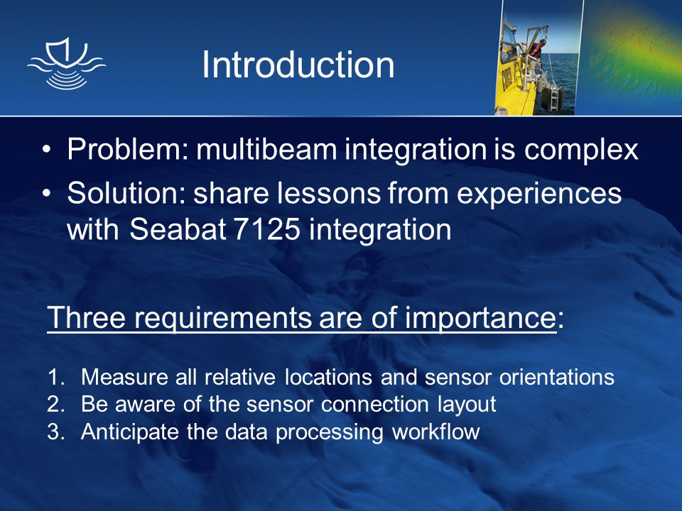 Introduction Problem: multibeam integration is complex