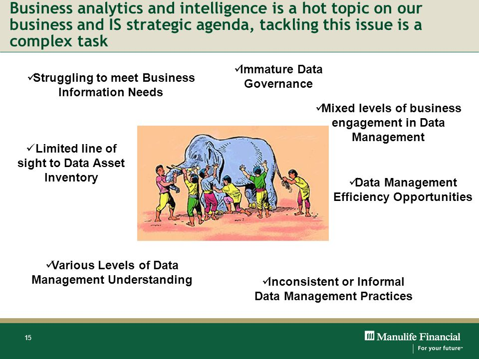 Business analytics and intelligence is a hot topic on our business and IS strategic agenda, tackling this issue is a complex task