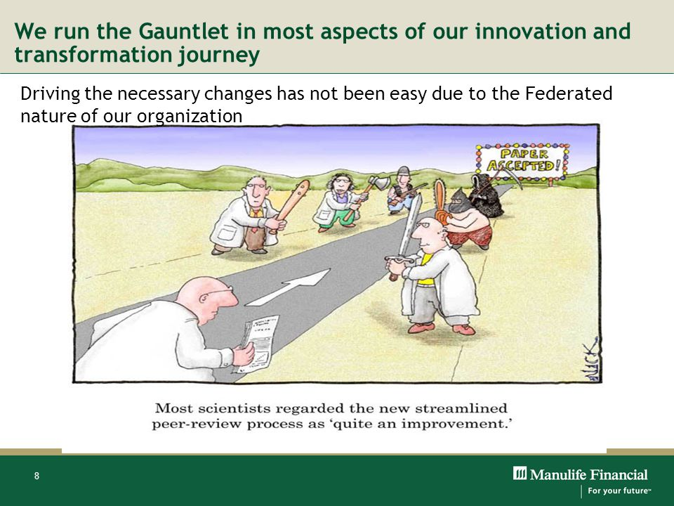 We run the Gauntlet in most aspects of our innovation and transformation journey