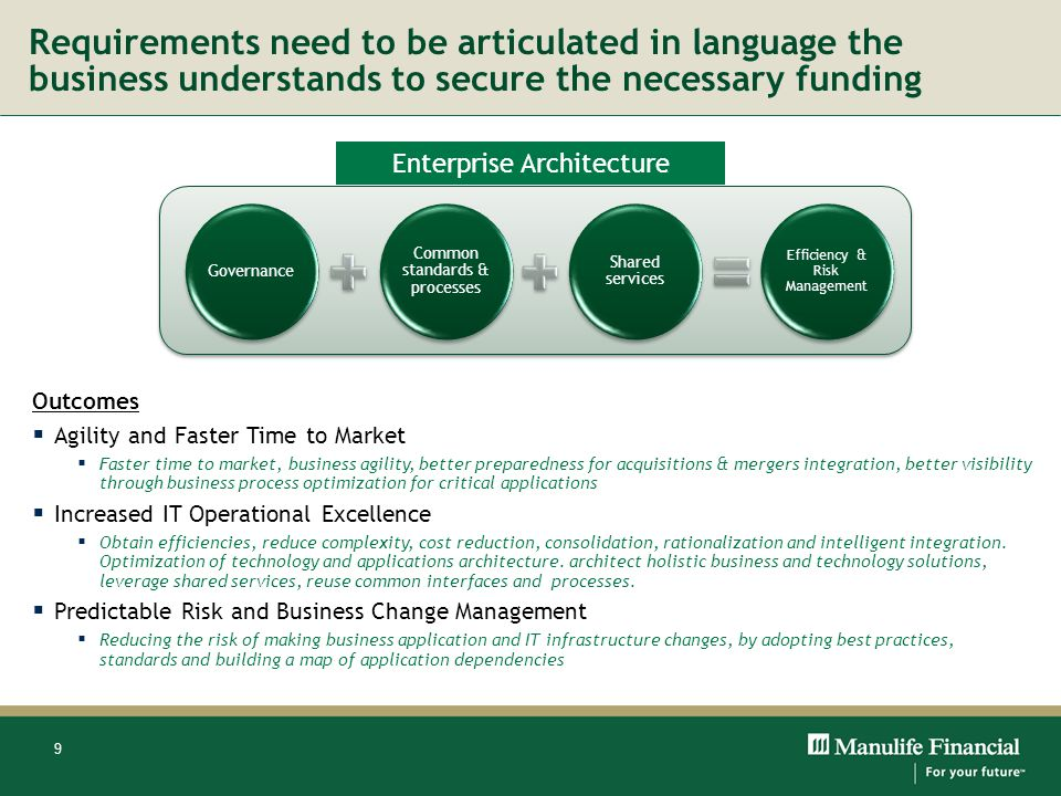 Requirements need to be articulated in language the business understands to secure the necessary funding
