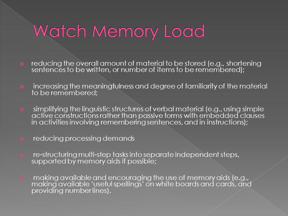 Watch Memory Load