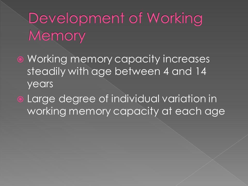 Development of Working Memory