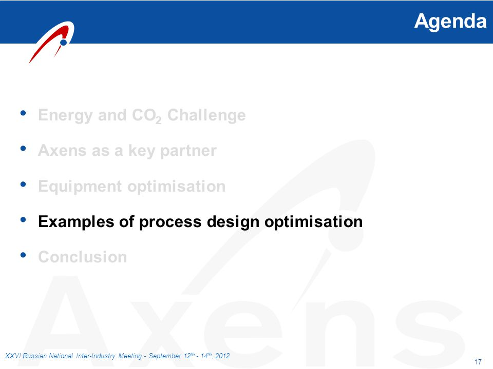 Agenda Energy and CO2 Challenge Axens as a key partner