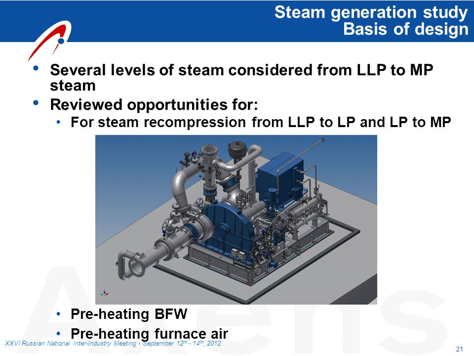 Steam generation study Basis of design