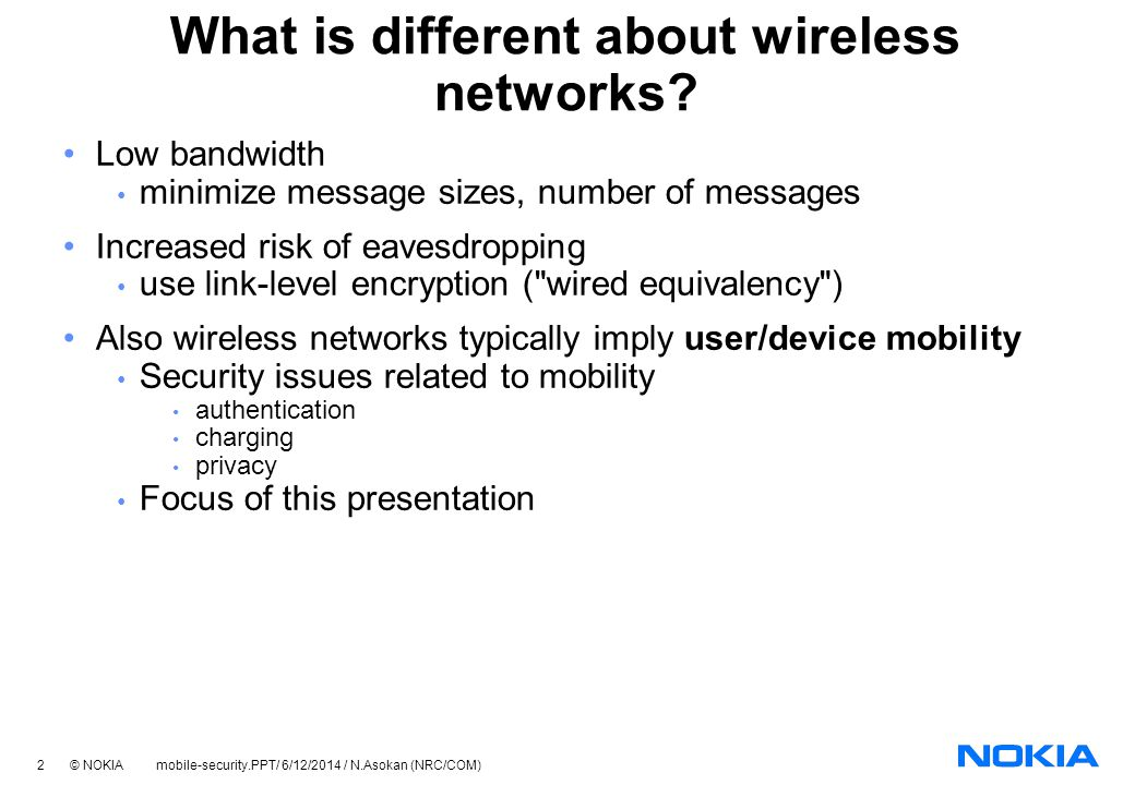 What is different about wireless networks