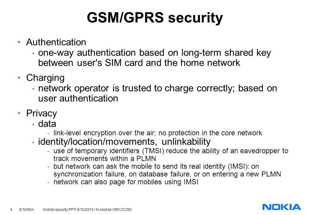 GSM/GPRS security Authentication
