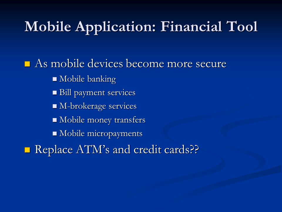 Mobile Application: Financial Tool