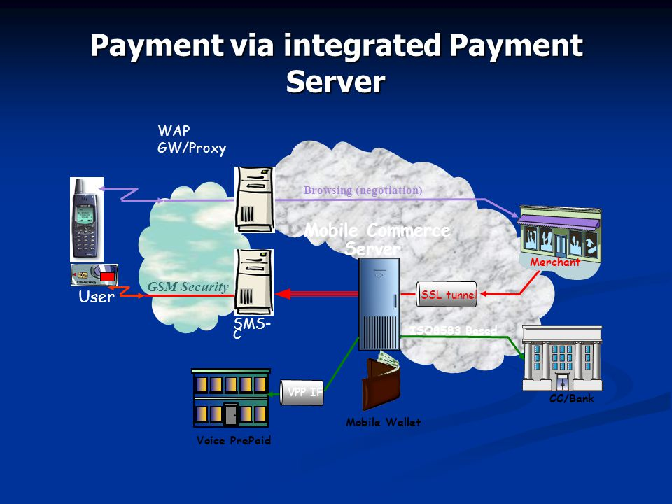 Payment via integrated Payment Server