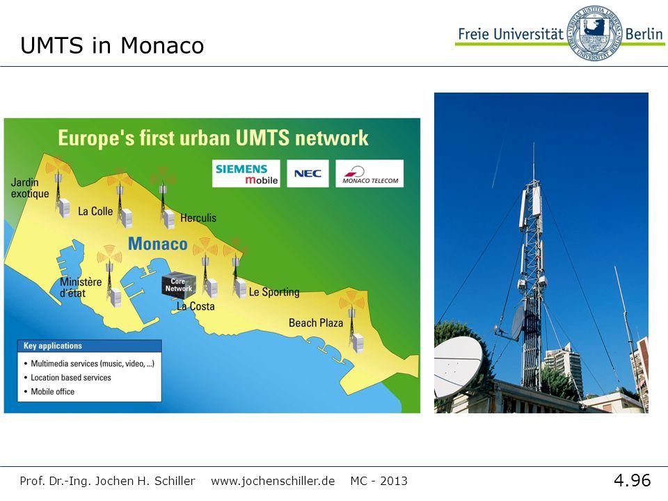 UMTS in Monaco Prof. Dr.-Ing. Jochen H. Schiller www.jochenschiller.de MC - 2013