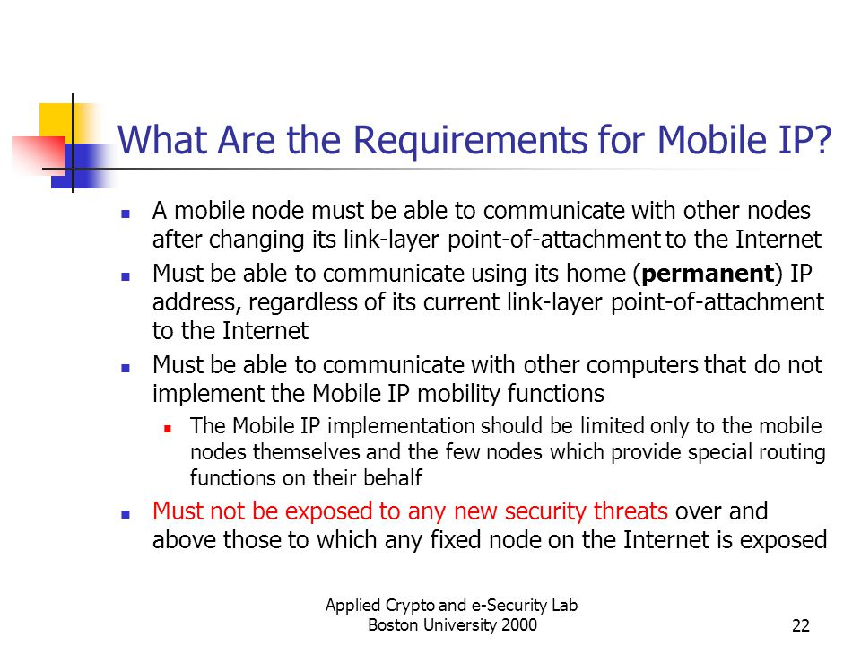 What Are the Requirements for Mobile IP
